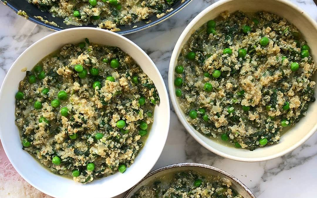 Pea & Spinach Risotto by Melissa Hemsley
