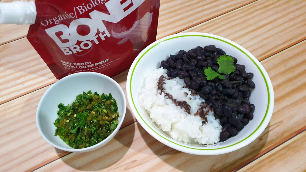 Cuban Black Beans with Bone Broth