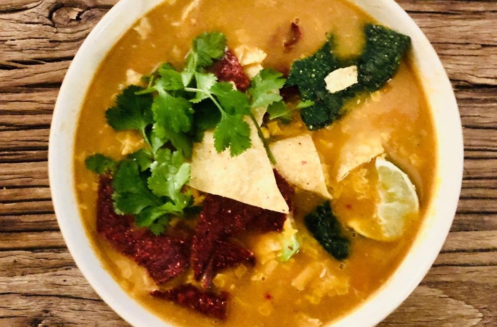 Tortilla Soup with Bone Broth