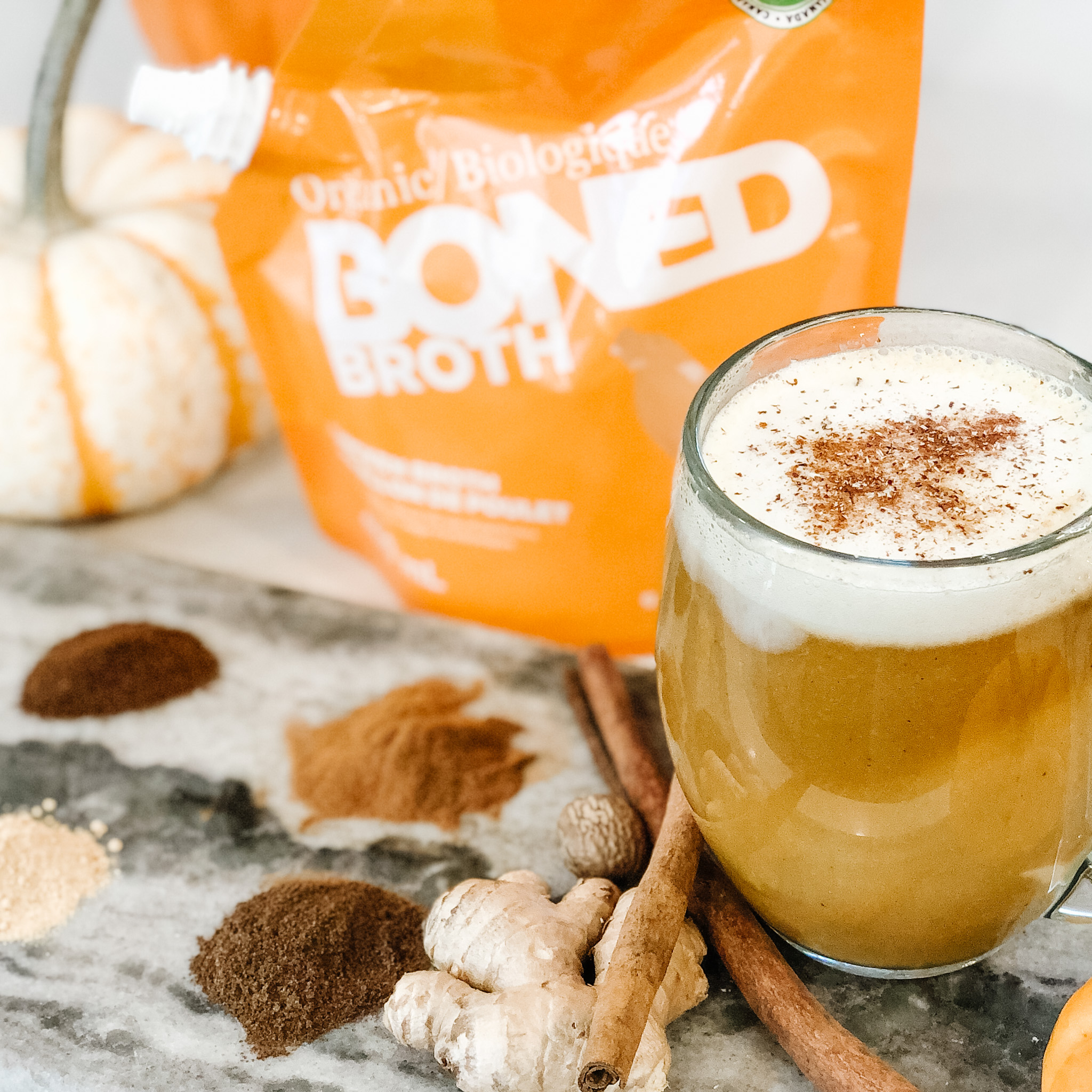 BONED Broth Pumpkin Spice Latte