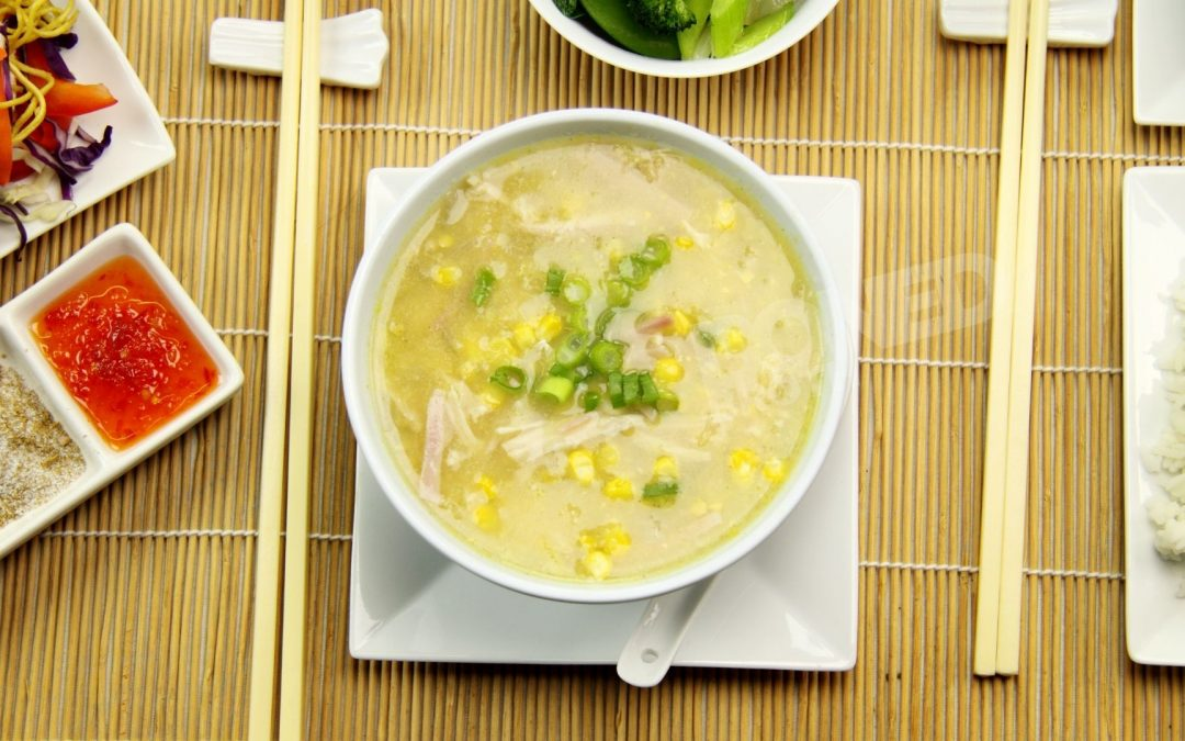 Easy Chinese Corn Soup with Chicken