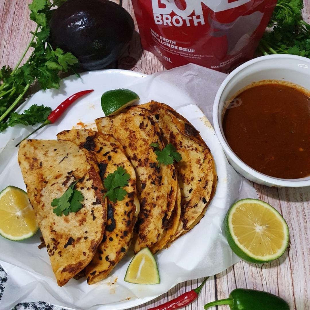 Tasty Bone Broth Birria Tacos